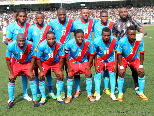 DR Congo team before their 1st leg play-off tie against Equatorial Guinea