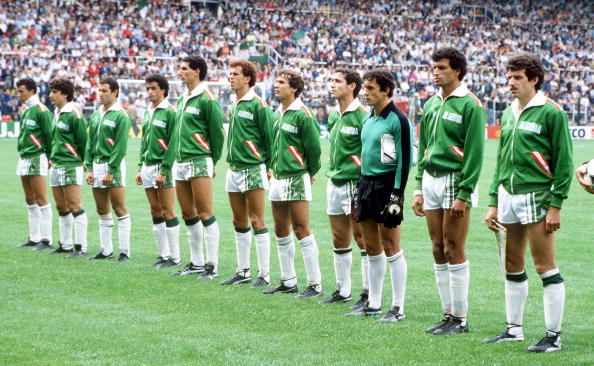 The Algerian XI vs. West Germany in 1982